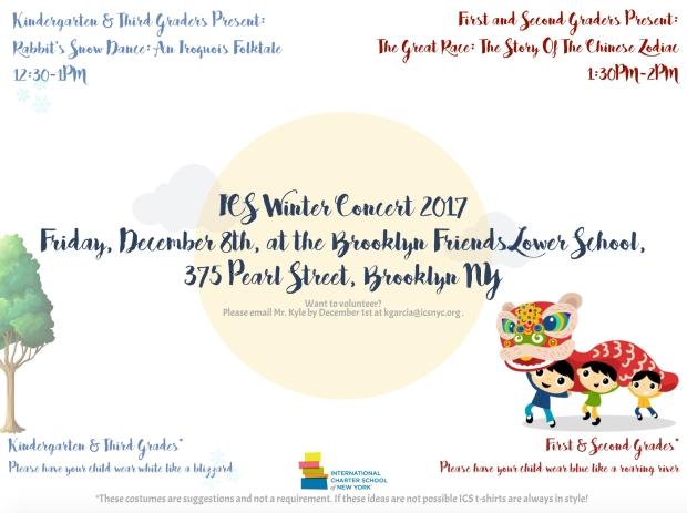 ICS Winter Concert 2017 - Flyer
